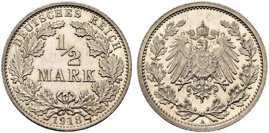 DE 1/2 Mark 1918 A