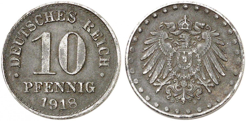 DE 10 Pfennig 1918 D