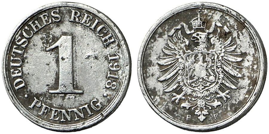 DE 1 Pfennig 1918 F