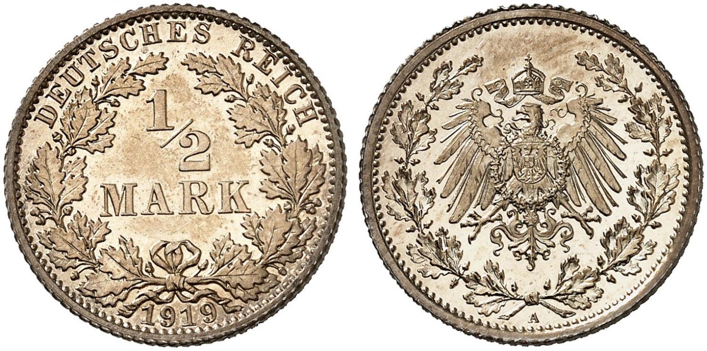 DE 1/2 Mark 1919 A