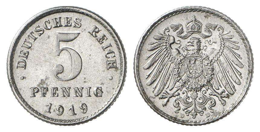 DE 5 Pfennig 1919 D