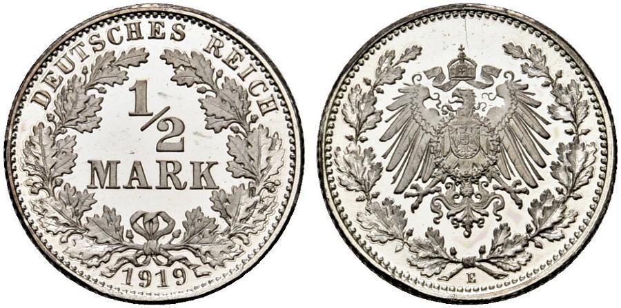 DE 1/2 Mark 1919 E