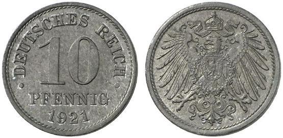 DE 10 Pfennig 1921