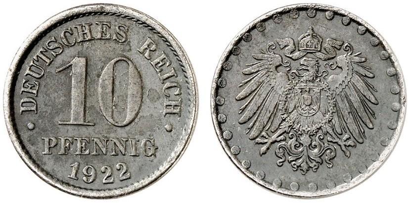 DE 10 Pfennig 1922