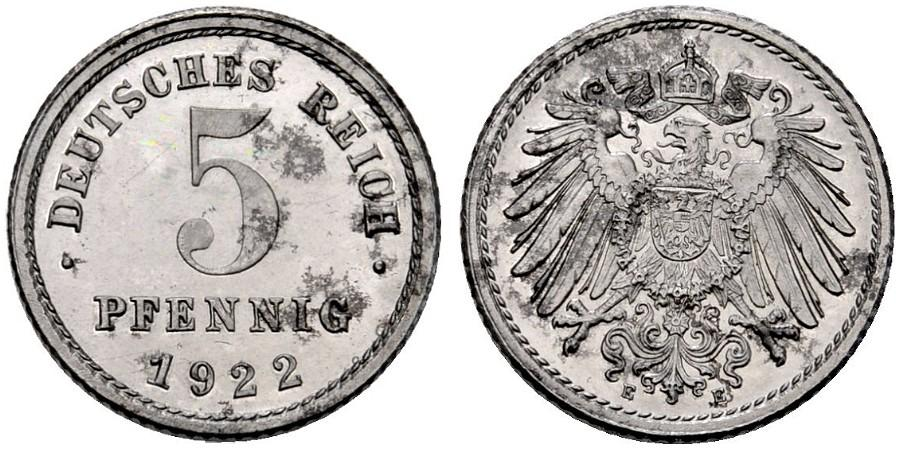 DE 5 Pfennig 1922 E