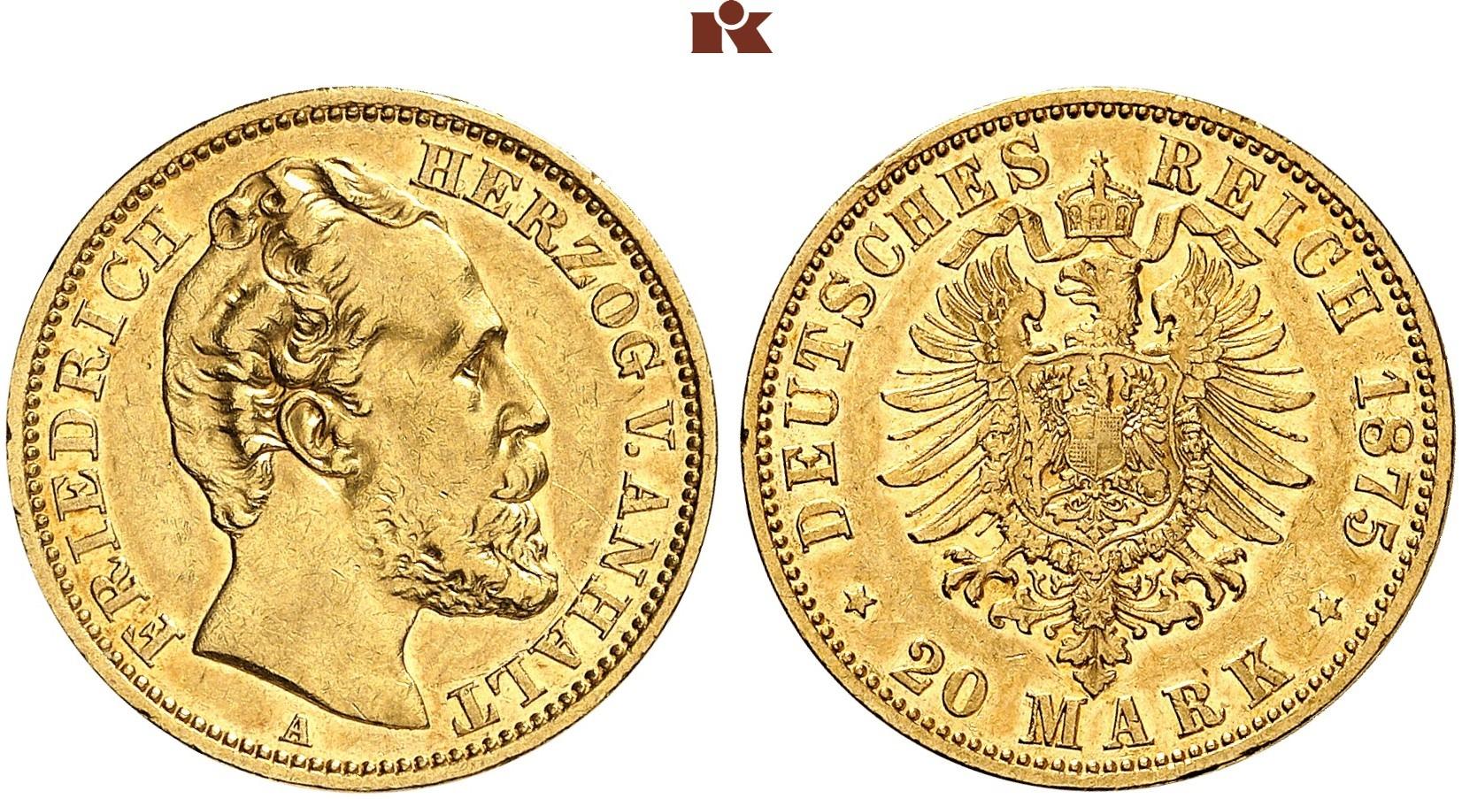 DE 20 Mark 1875 A