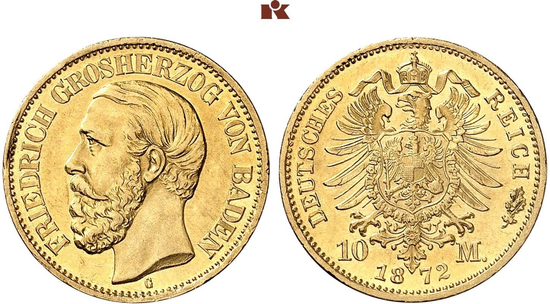 DE 10 Mark 1872 G