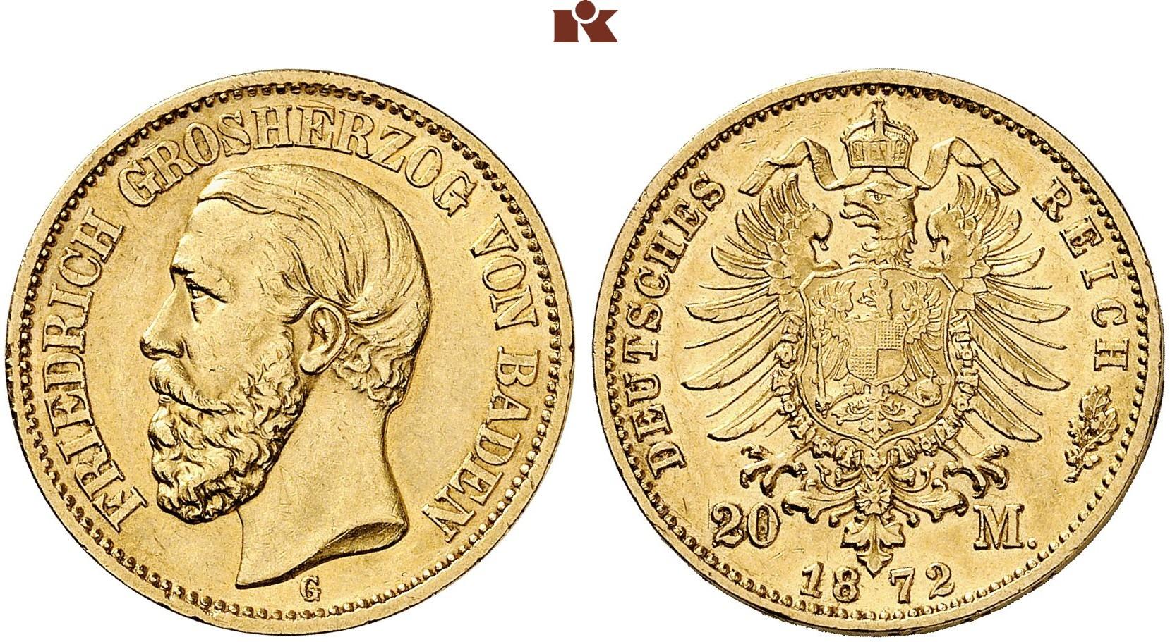 DE 20 Mark 1872 G