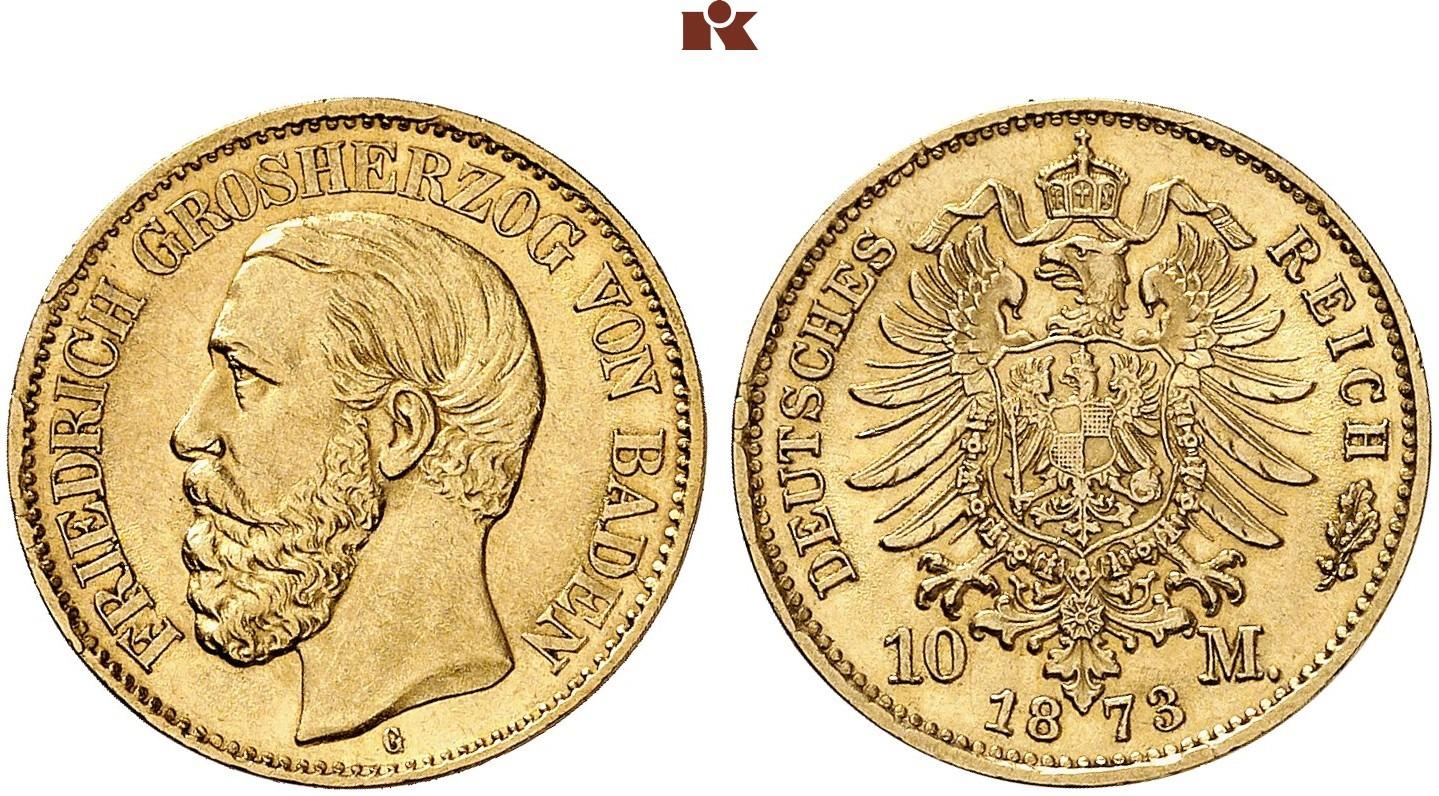 DE 10 Mark 1873 G