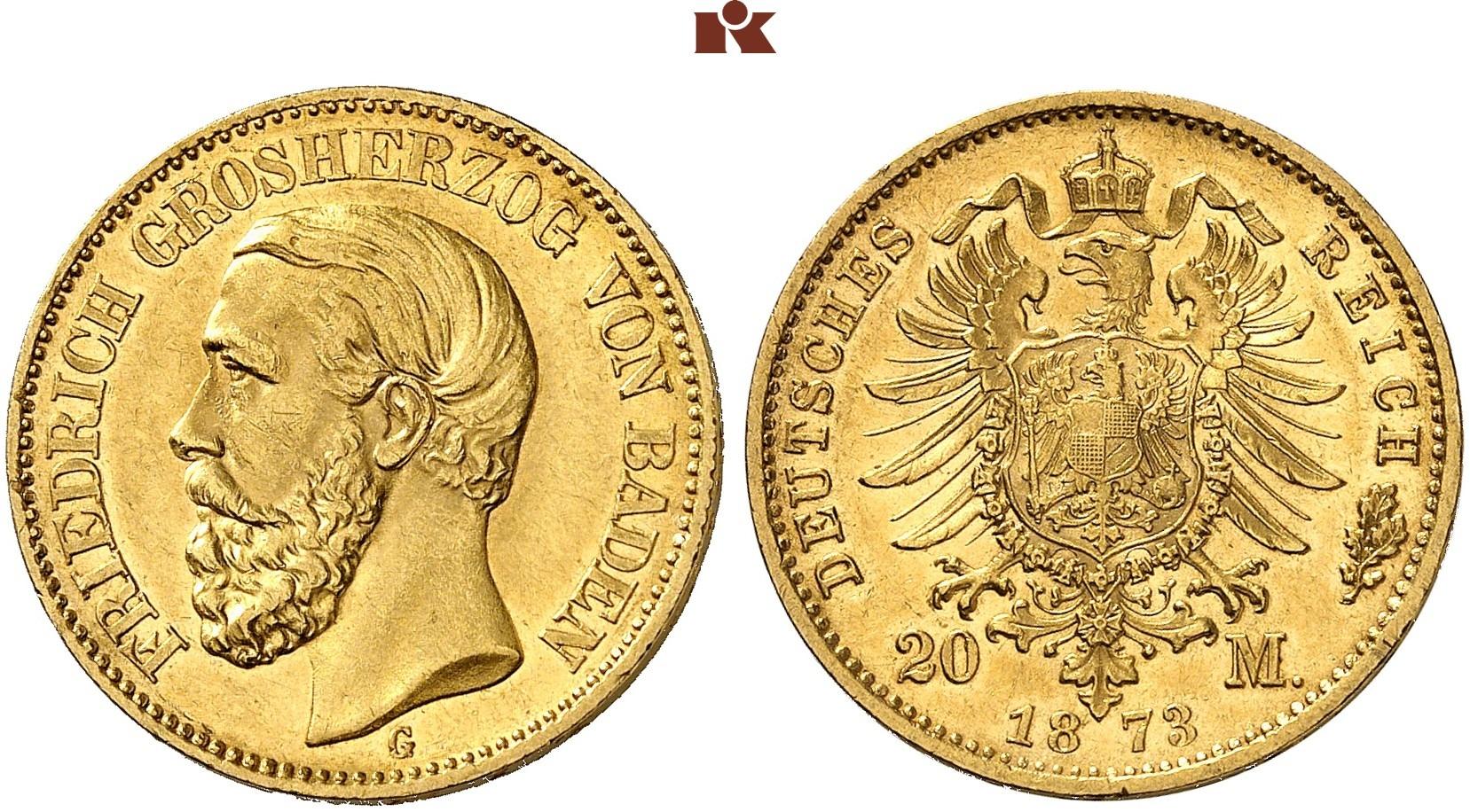 DE 20 Mark 1873 G