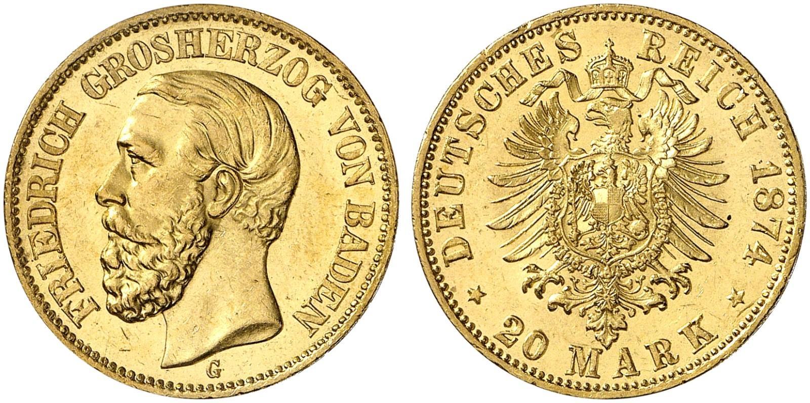 DE 20 Mark 1874 G