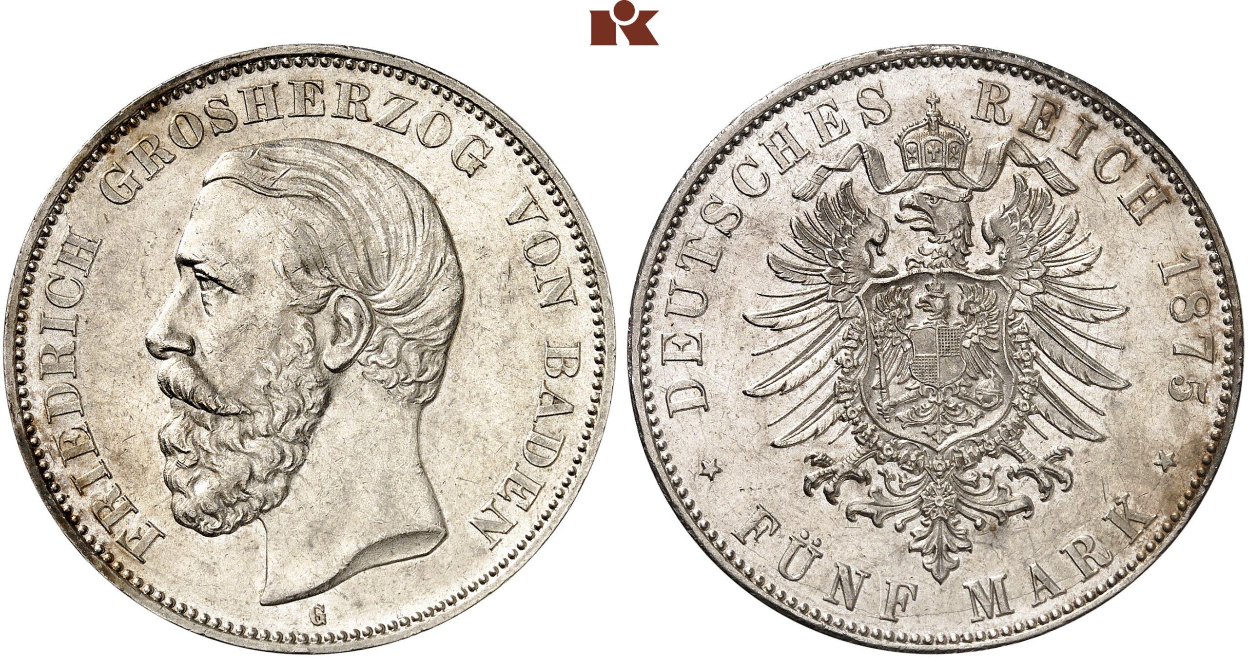 DE 5 Mark 1875 G