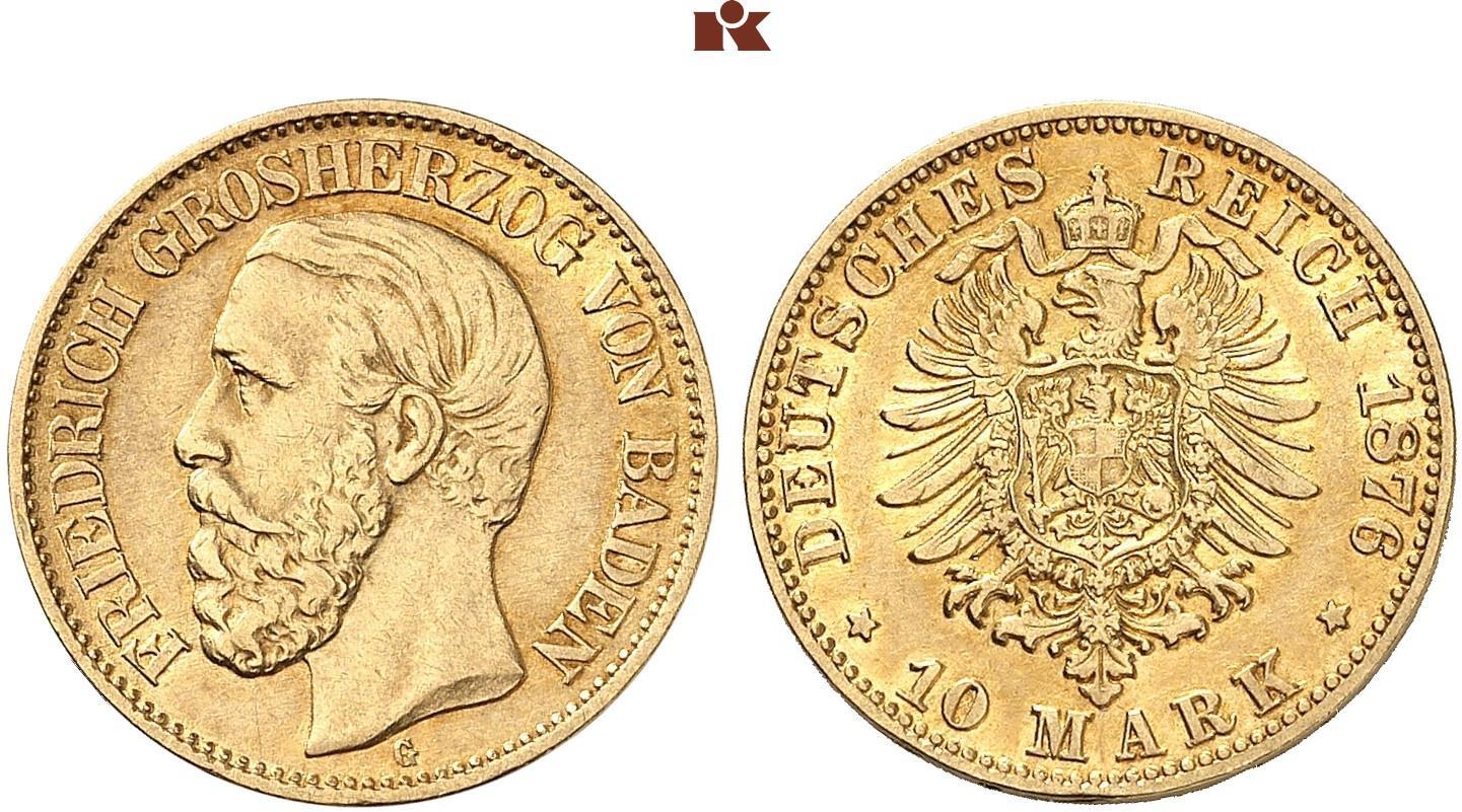 DE 10 Mark 1876 G