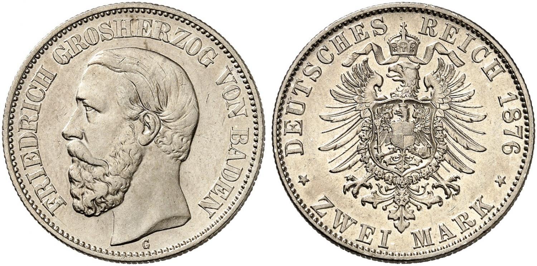 DE 2 Mark 1876 G