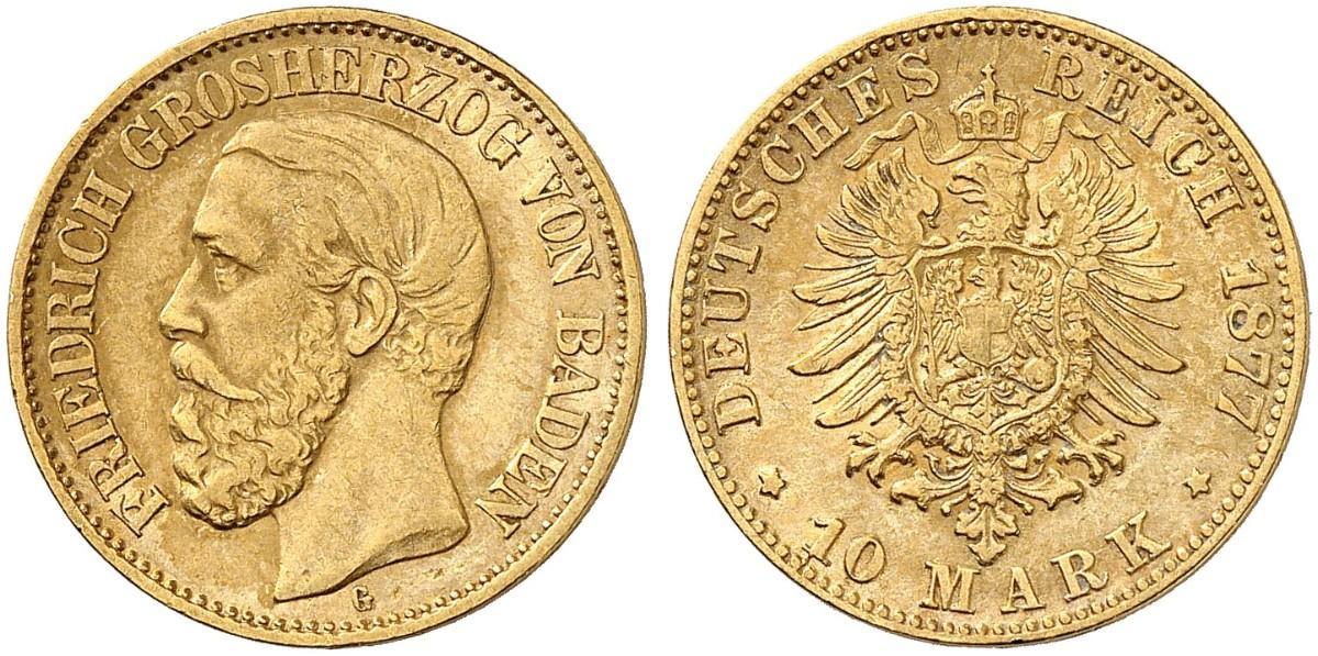 DE 10 Mark 1877 G