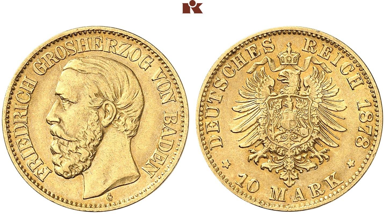DE 10 Mark 1878 G