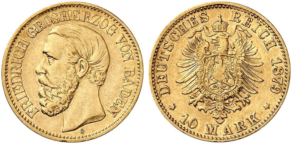 DE 10 Mark 1879 G