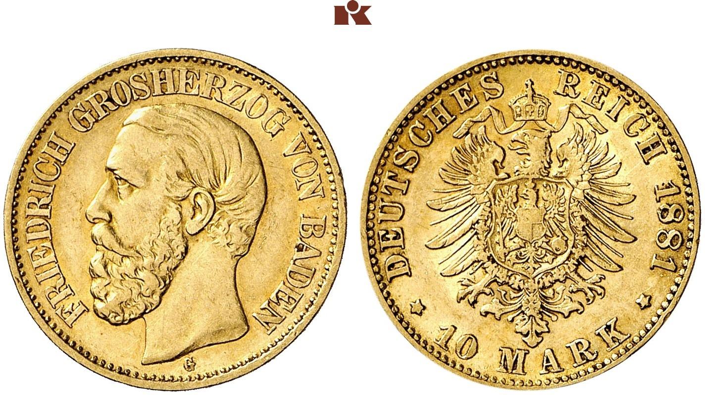 DE 10 Mark 1881 G