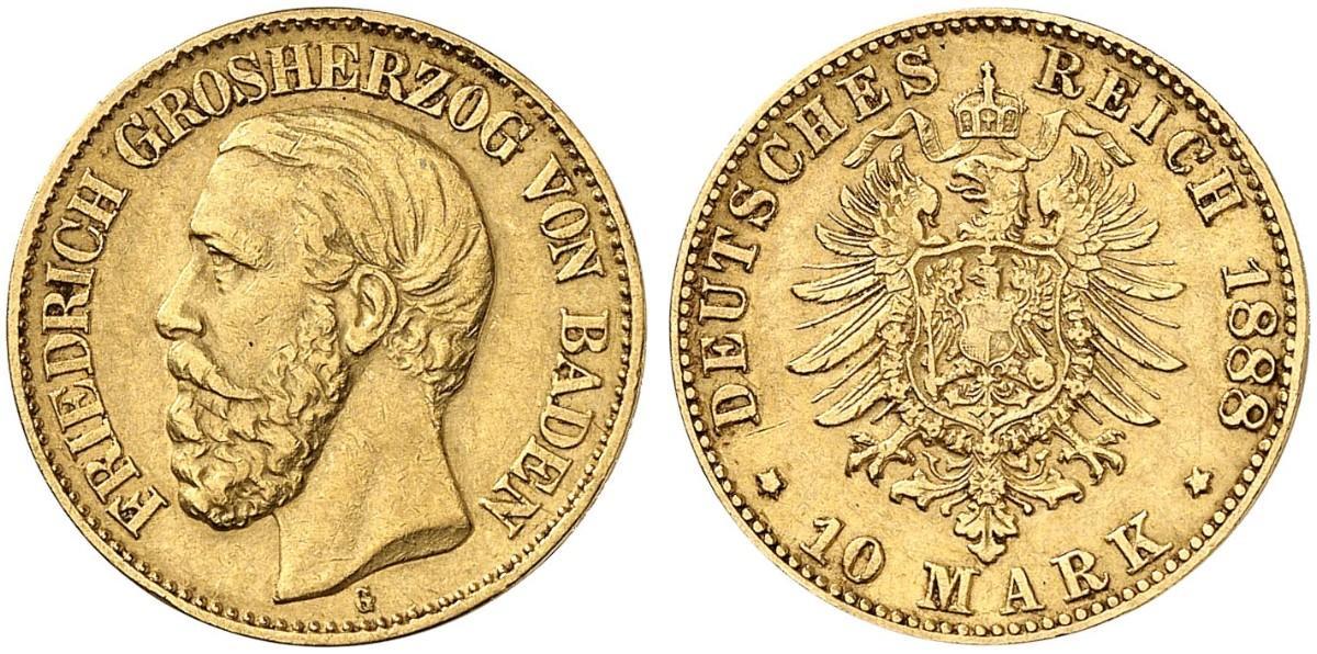 DE 10 Mark 1888 G