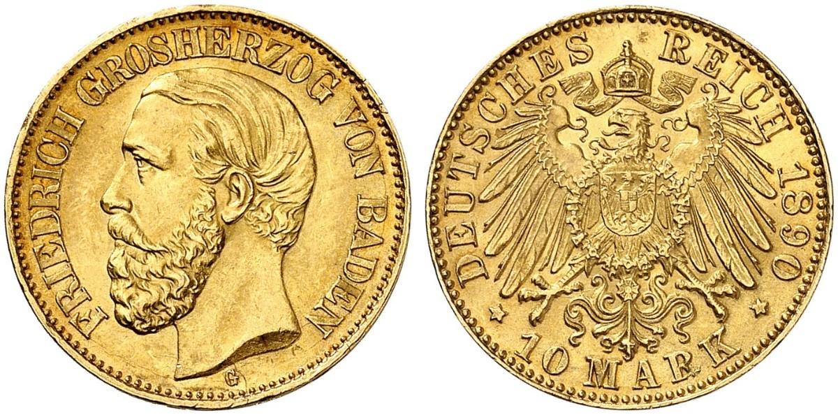 DE 10 Mark 1890 G