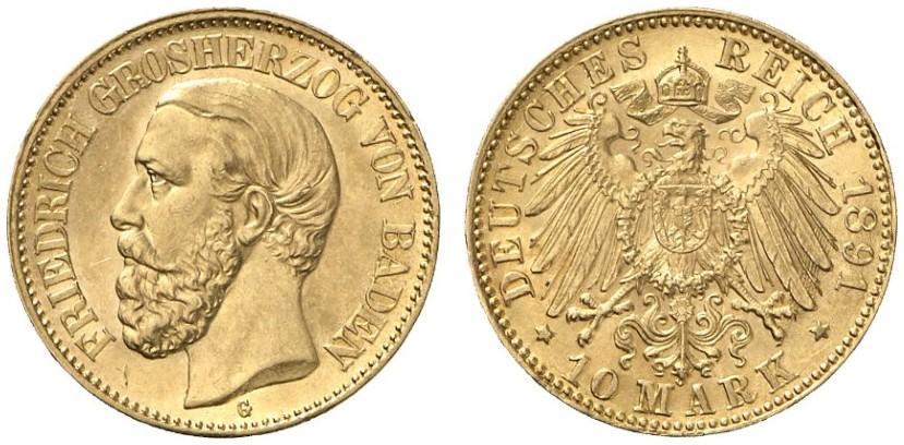 DE 10 Mark 1891 G