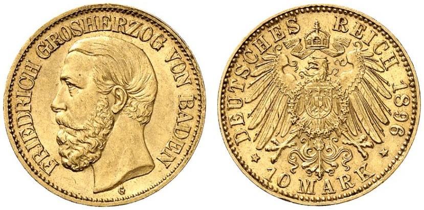 DE 10 Mark 1896 G