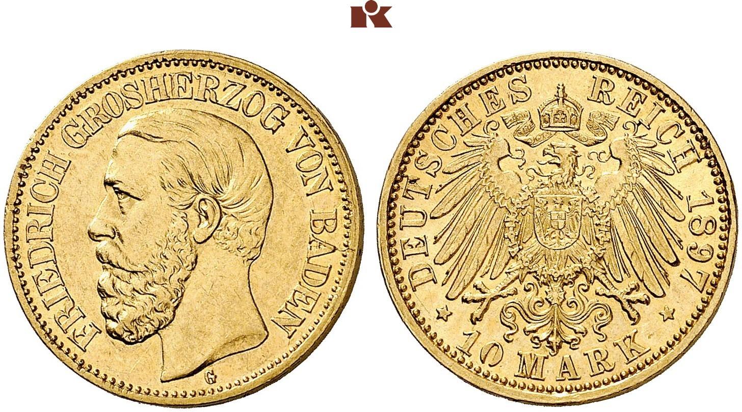 DE 10 Mark 1897 G