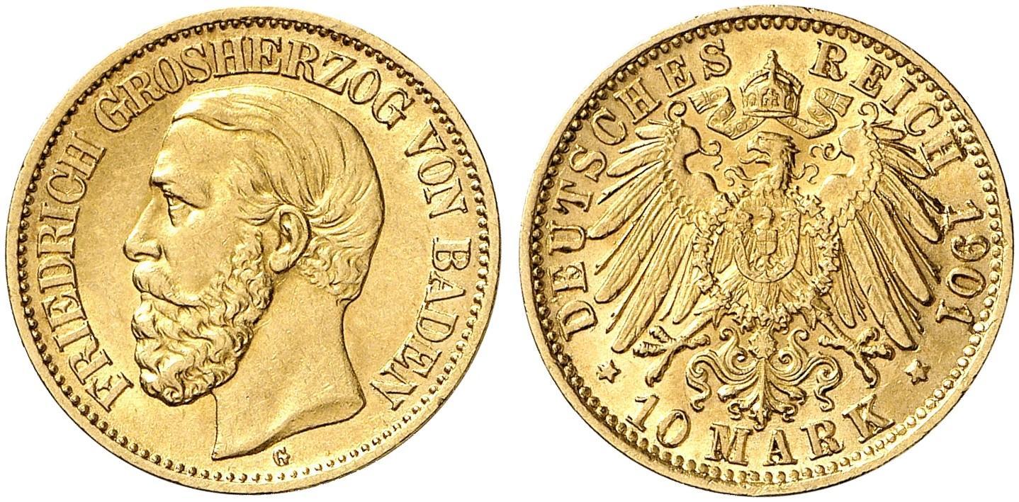 DE 10 Mark 1901 G