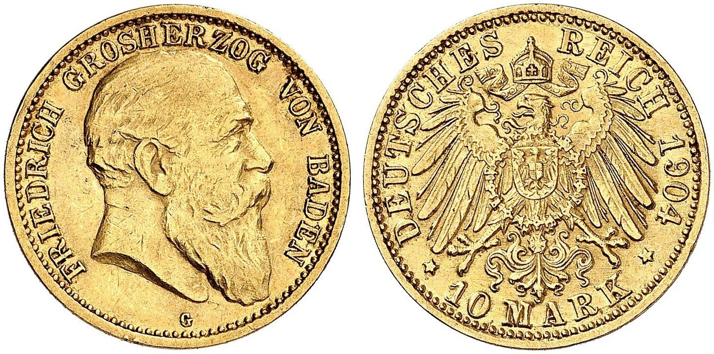 DE 10 Mark 1904 G