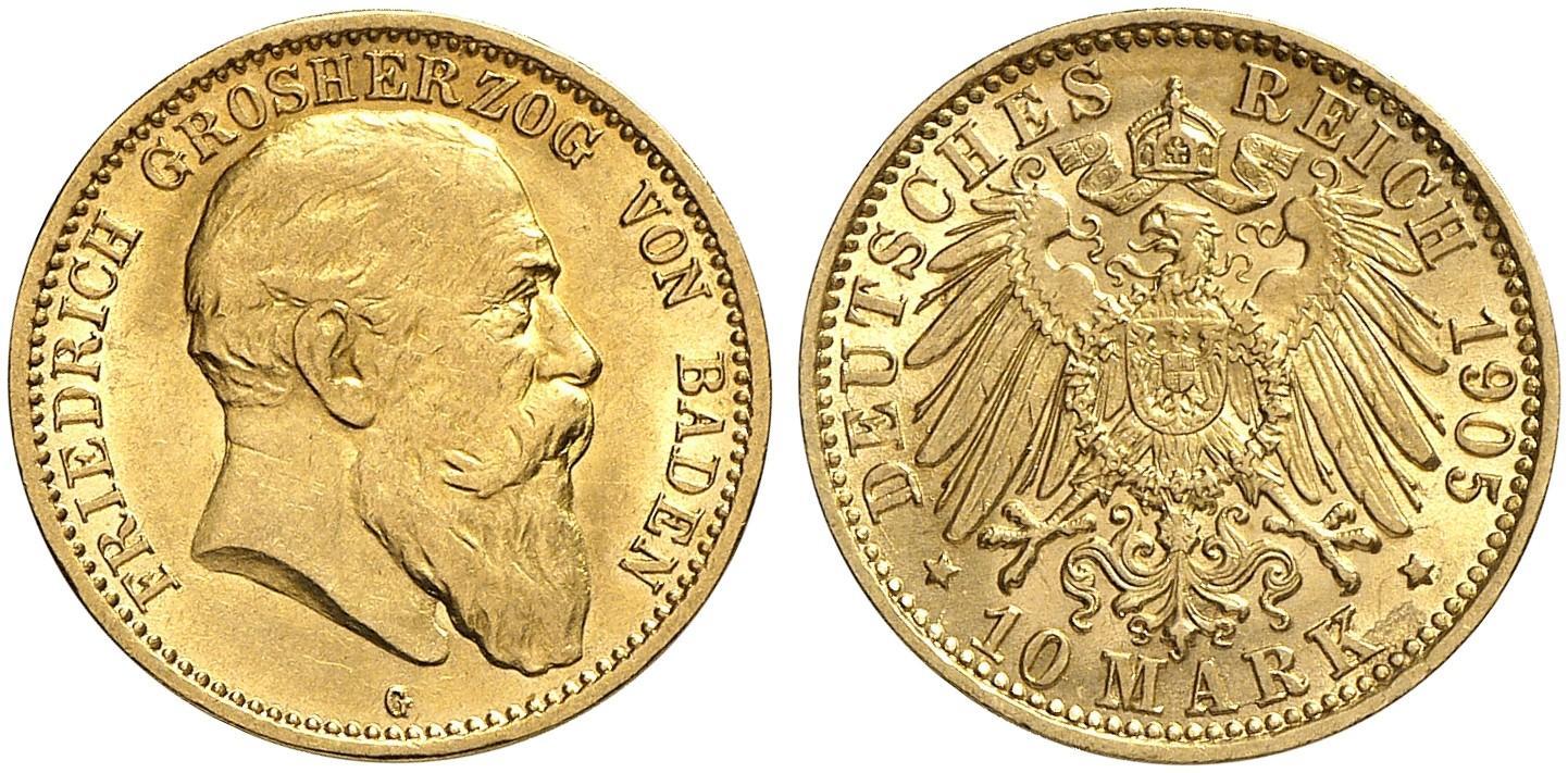 DE 10 Mark 1905 G