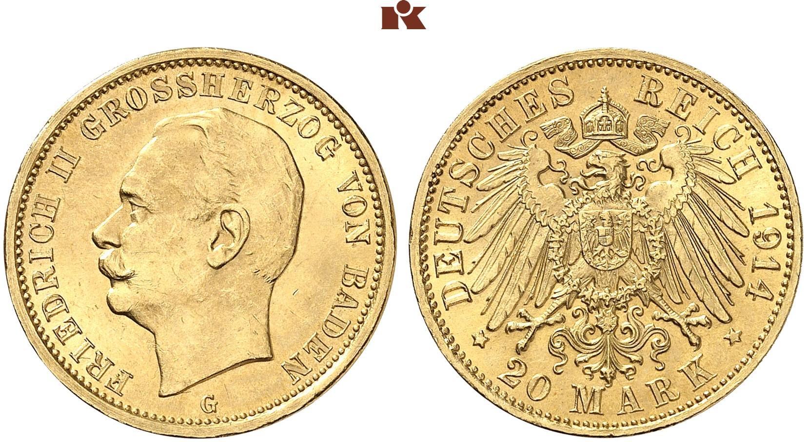 DE 20 Mark 1914 G