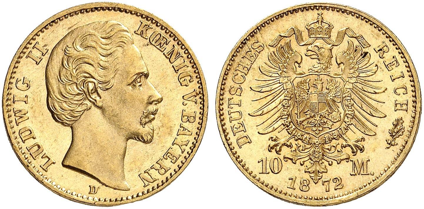 DE 10 Mark 1872 D