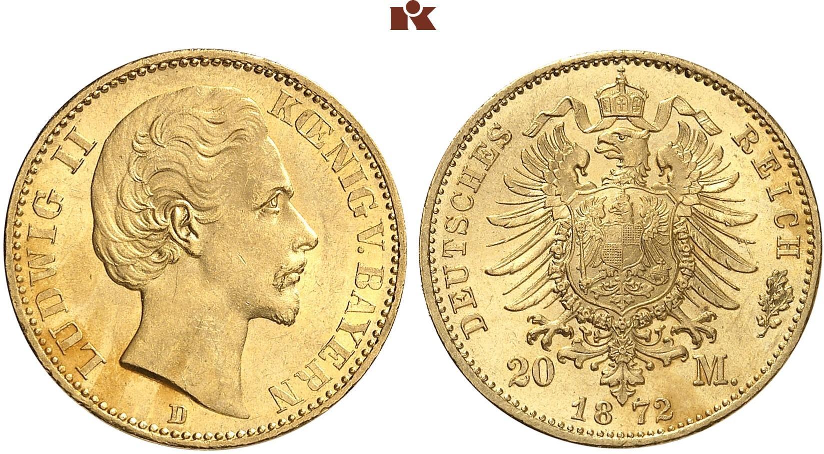 DE 20 Mark 1872 D