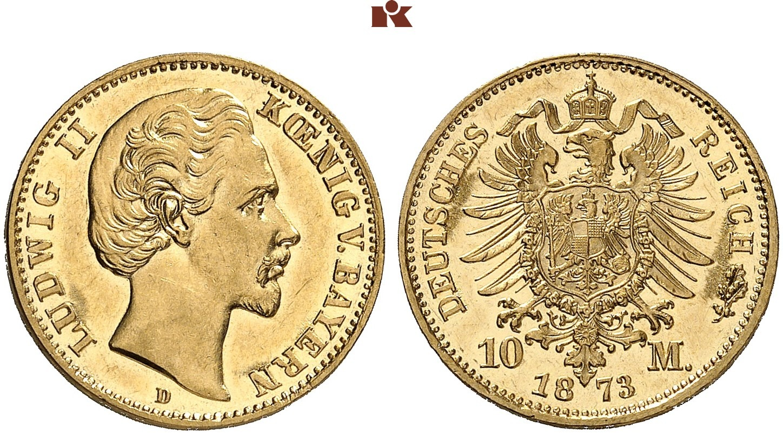 DE 10 Mark 1873 D