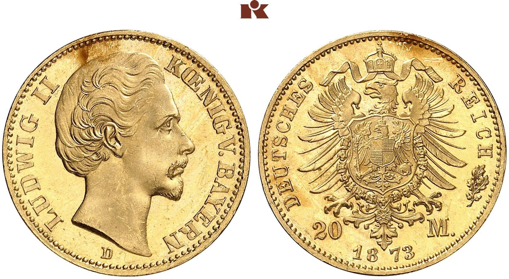 DE 20 Mark 1873 D