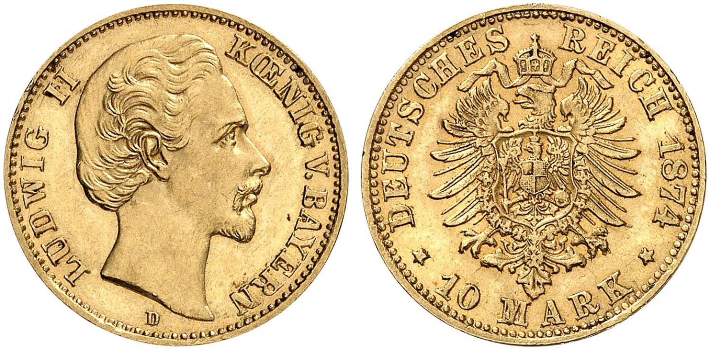 DE 10 Mark 1874 D