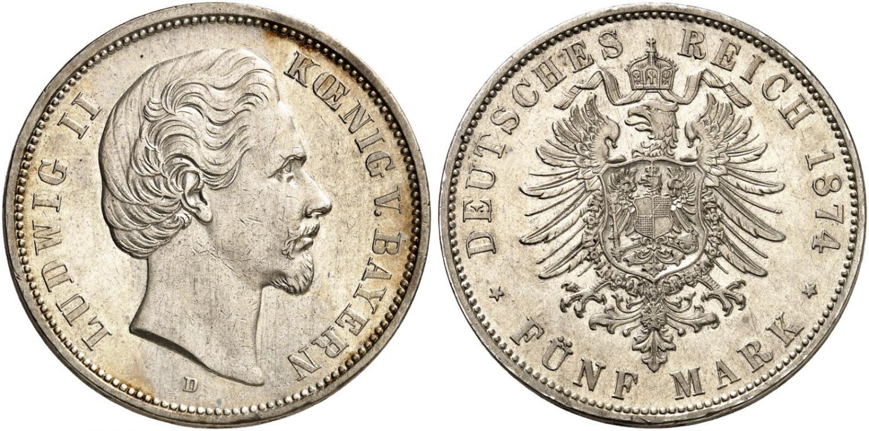DE 5 Mark 1874 D