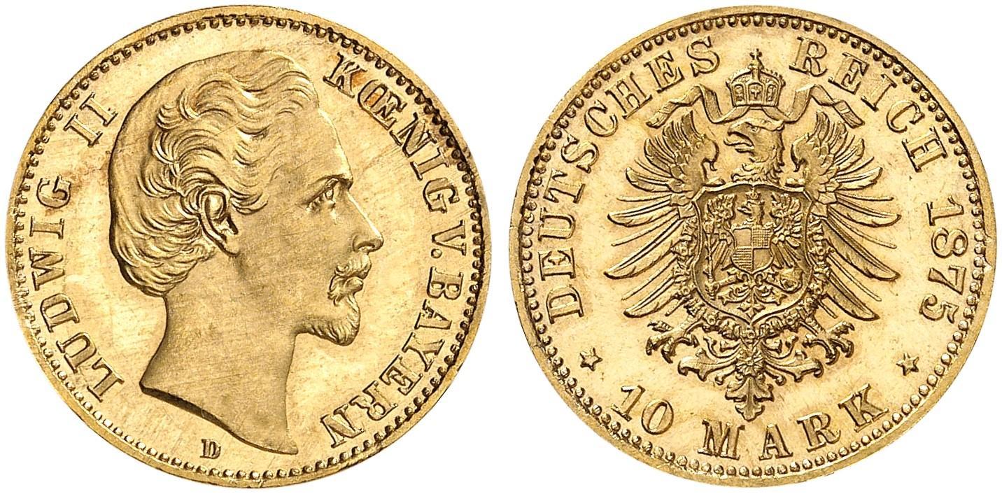 DE 10 Mark 1875 D