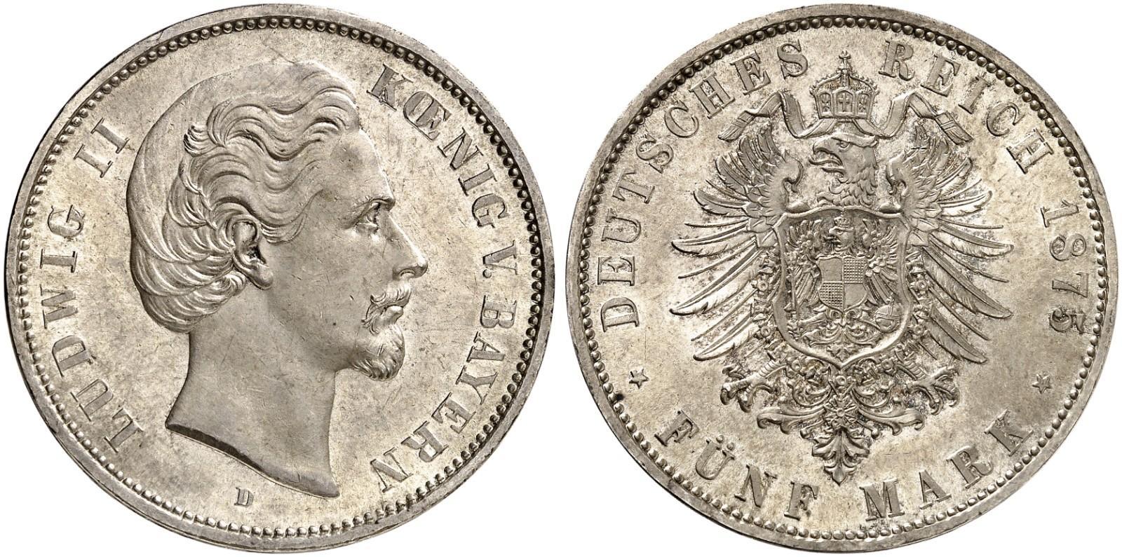 DE 5 Mark 1875 D
