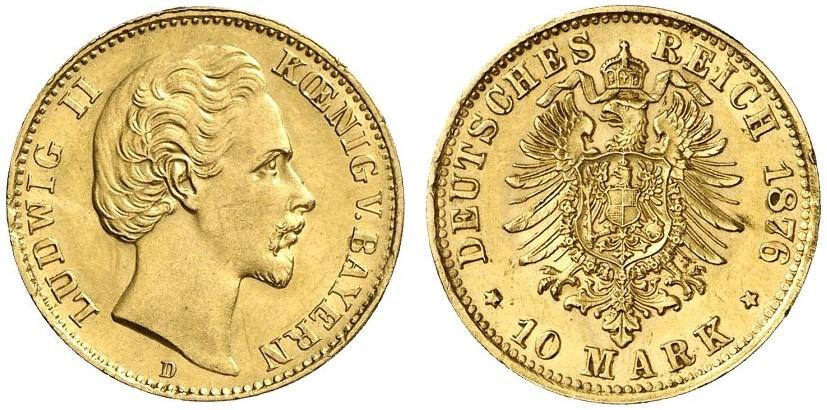 DE 10 Mark 1876 D