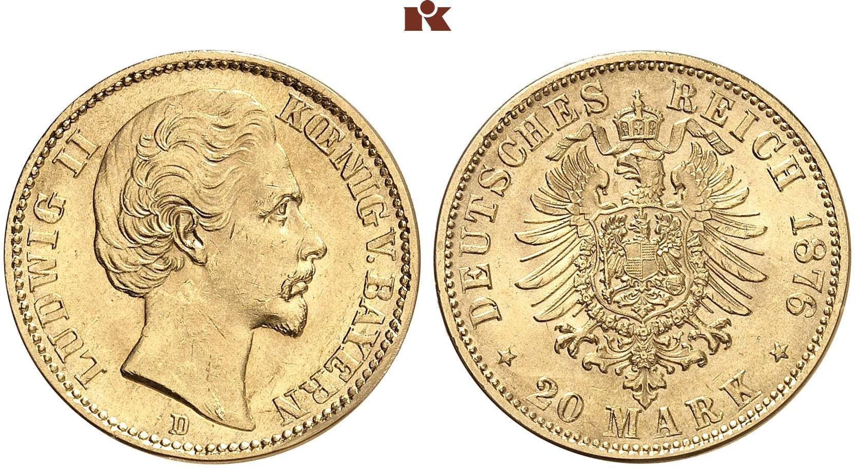DE 20 Mark 1876 D