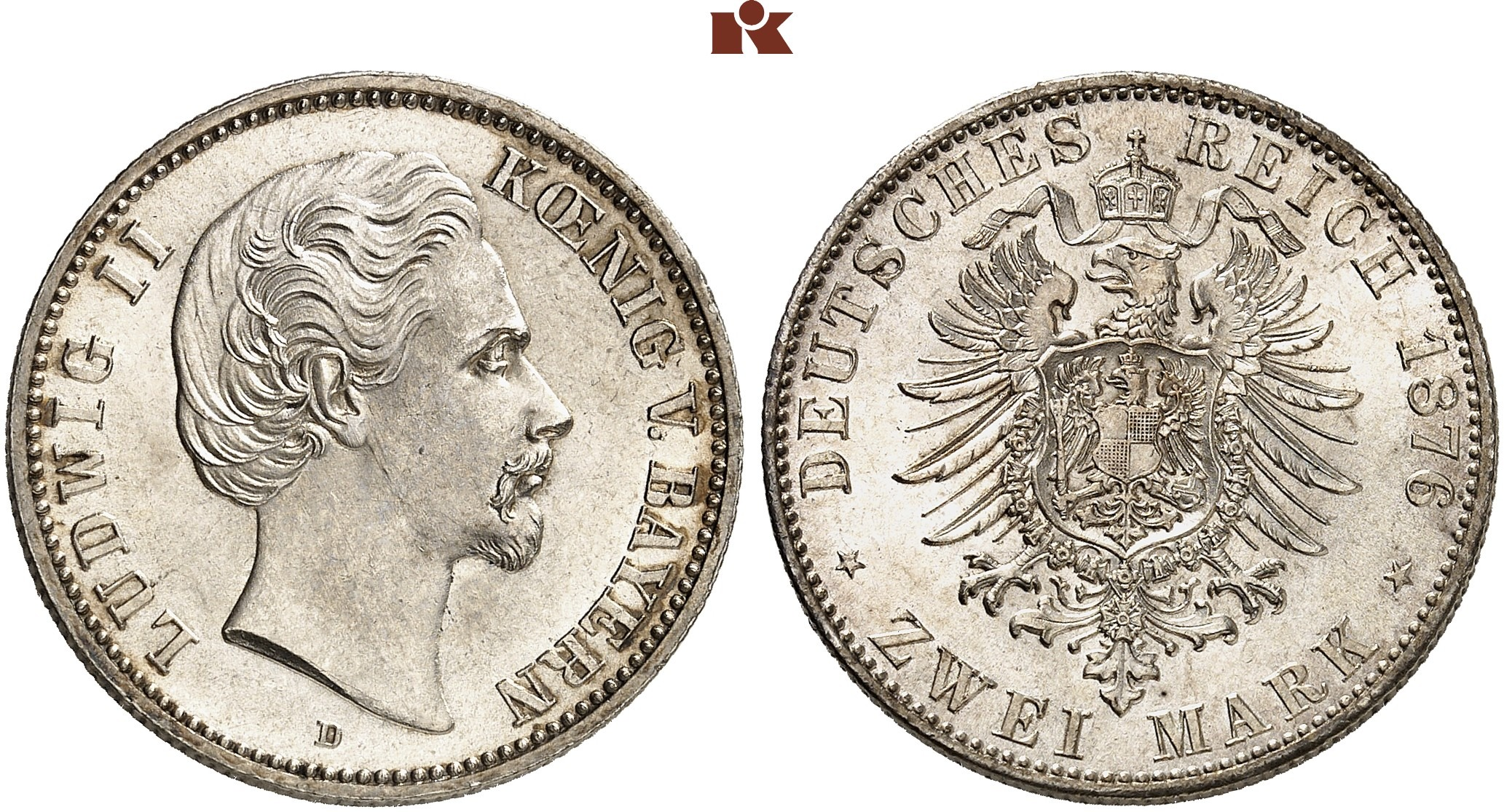 DE 2 Mark 1876 D