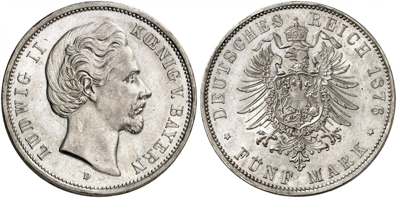 DE 5 Mark 1876 D