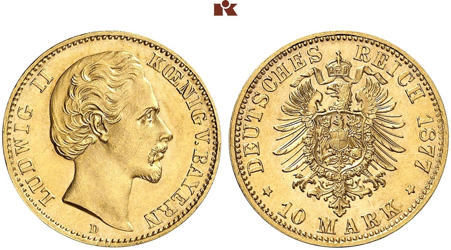 DE 10 Mark 1877 D