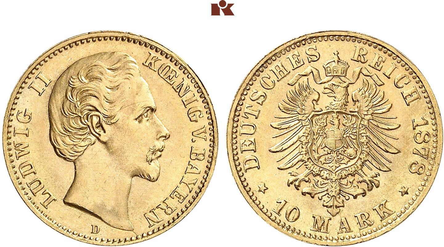 DE 10 Mark 1878 D