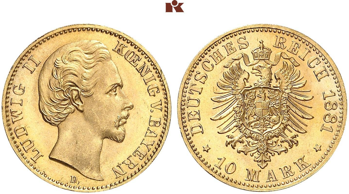 DE 10 Mark 1881 D