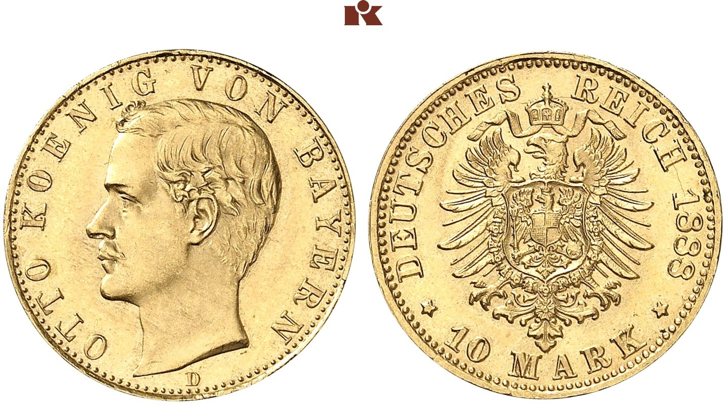 DE 10 Mark 1888 D