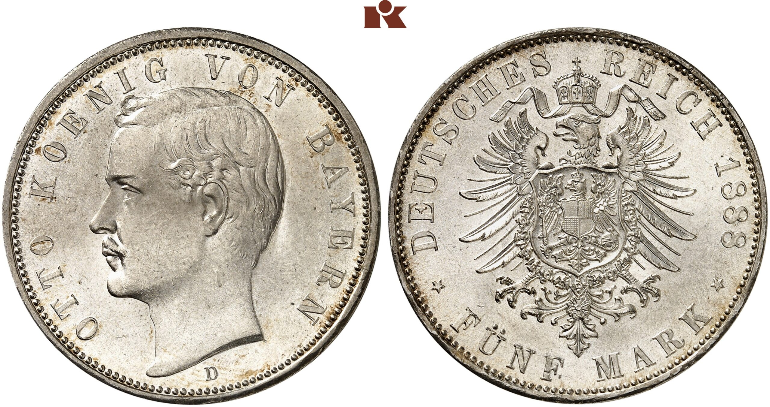 DE 5 Mark 1888 D