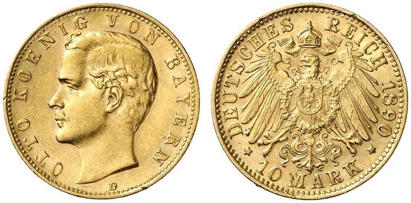 DE 10 Mark 1890 D