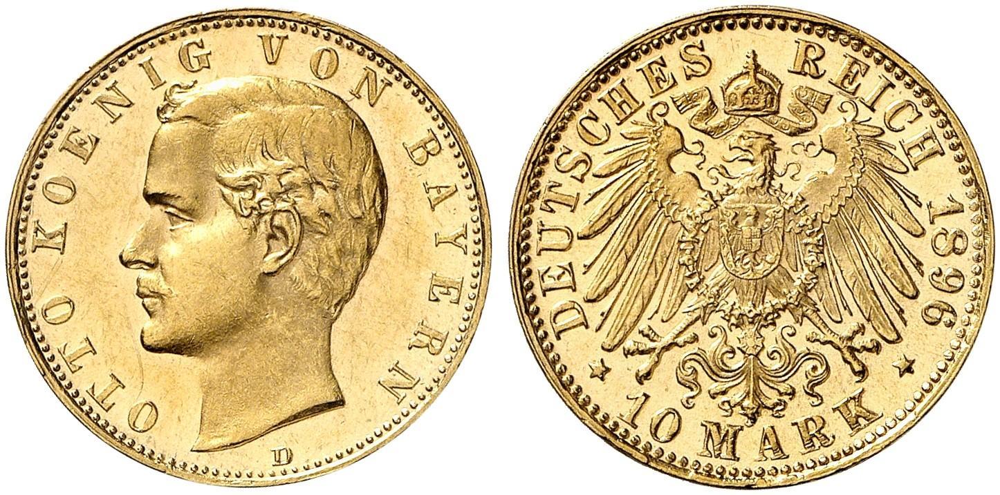 DE 10 Mark 1896 D
